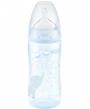 NUK First Choice Plus Baby Blue Baby Bottle with Temperature Control